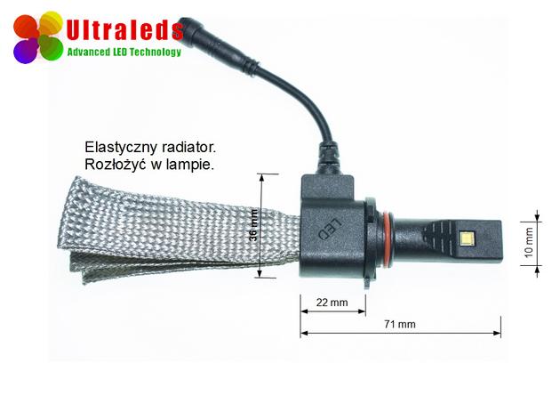 Żarówka zestaw LED HB3 5000LM Philips Xenon CANBUS